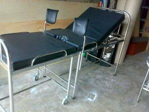 Bed Partus Verlos Ranjang Pasien Gynekologi Stainless
